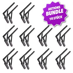 Aktions-Bundle PoolKing Cover Shelves schwarz, 10 Stk._50845